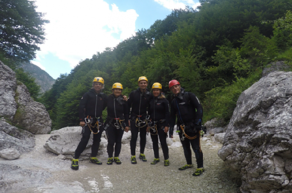 canyoning Tolmin Kobarid and Bovec